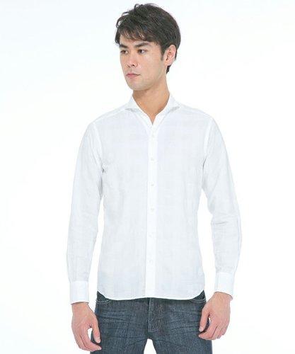 [ジョゼフオム]ドビーチェックシャツ(C)FDB