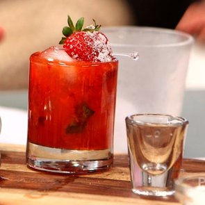 Strawberry-Basil Gin Cocktail   Video