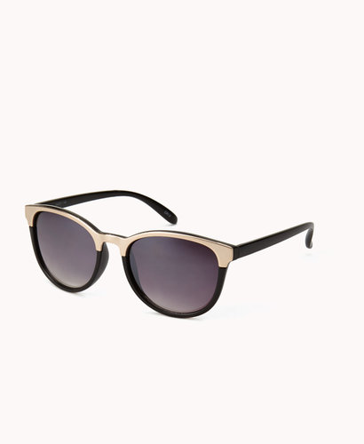FOREVER 21 F6993 Mirrored D-Frame Sunglasses