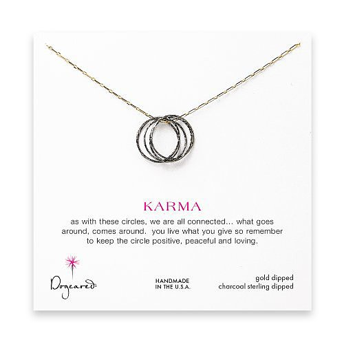 ethereal karma necklace, charcoal