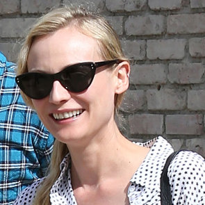 See all Angles on Diane Kruger Print Clashing Off-Duty Look