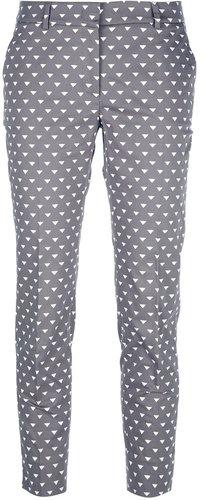Peserico slim geometric print trouser