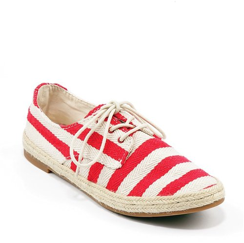 Lucky Brand Lace Up Espadrille Flats - Dysart