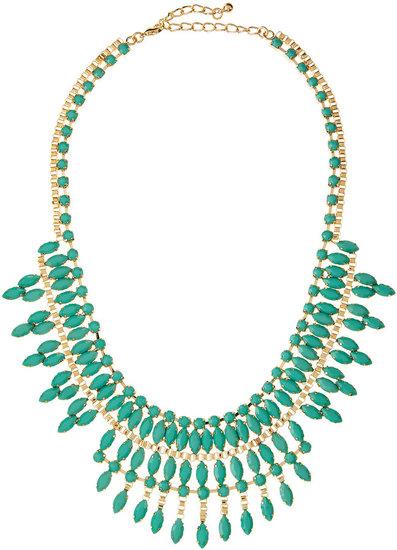 Panacea Turquoise Epoxy Bib Necklace