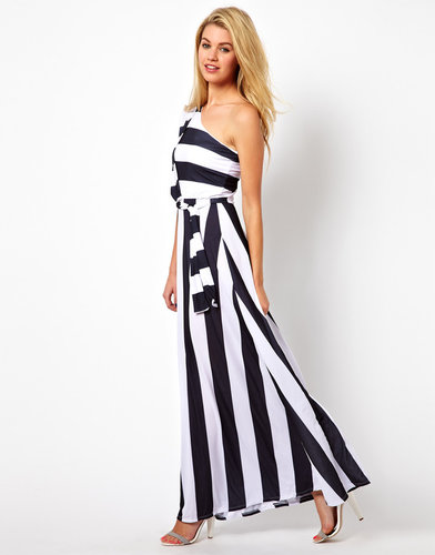 Pearl Stripe Maxi Dress