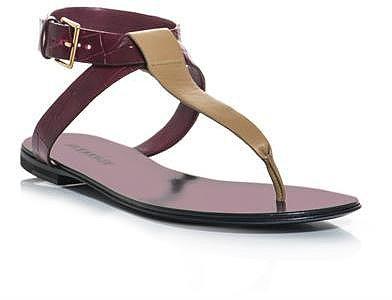Jil Sander Leather bi-colour sandals