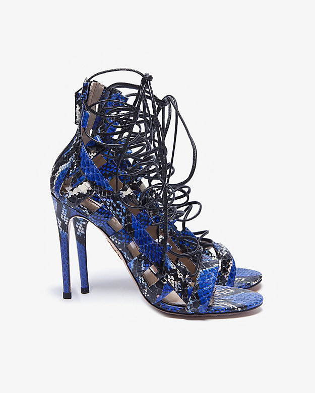 Evening sandals in the Summer should be two things: tall and sexy. These Aquazzura lace-up cage sandals ($595) are both and will look good worn with a pair of distressed jeans and a tee or a pencil skirt and silk tank. Wear them with neutrals for a pop of color or play with a mixture of patterns and prints for something that feels more global.  — MC
