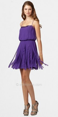 Fringe Party Dresses by Aidan Mattox