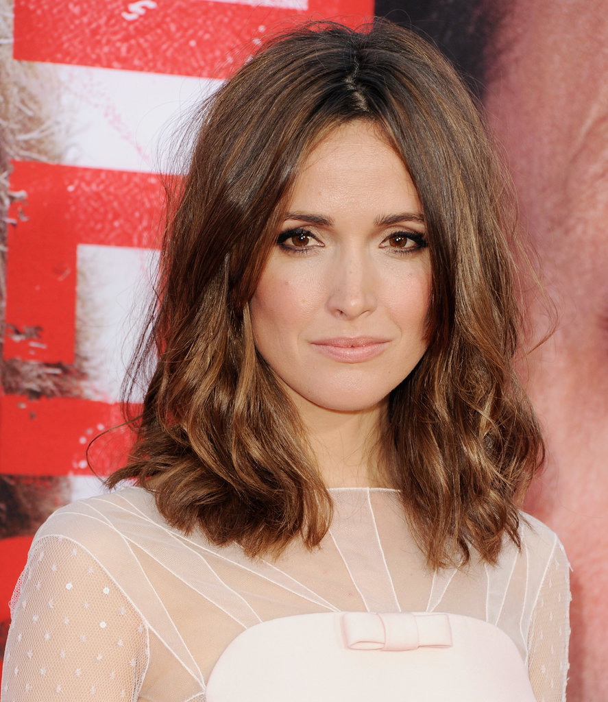 At The Internship premiere, Rose Byrne wore smoldering eye makeup with a combination of bronze and black shadows. The look is ideal for an evening wedding ceremony.
