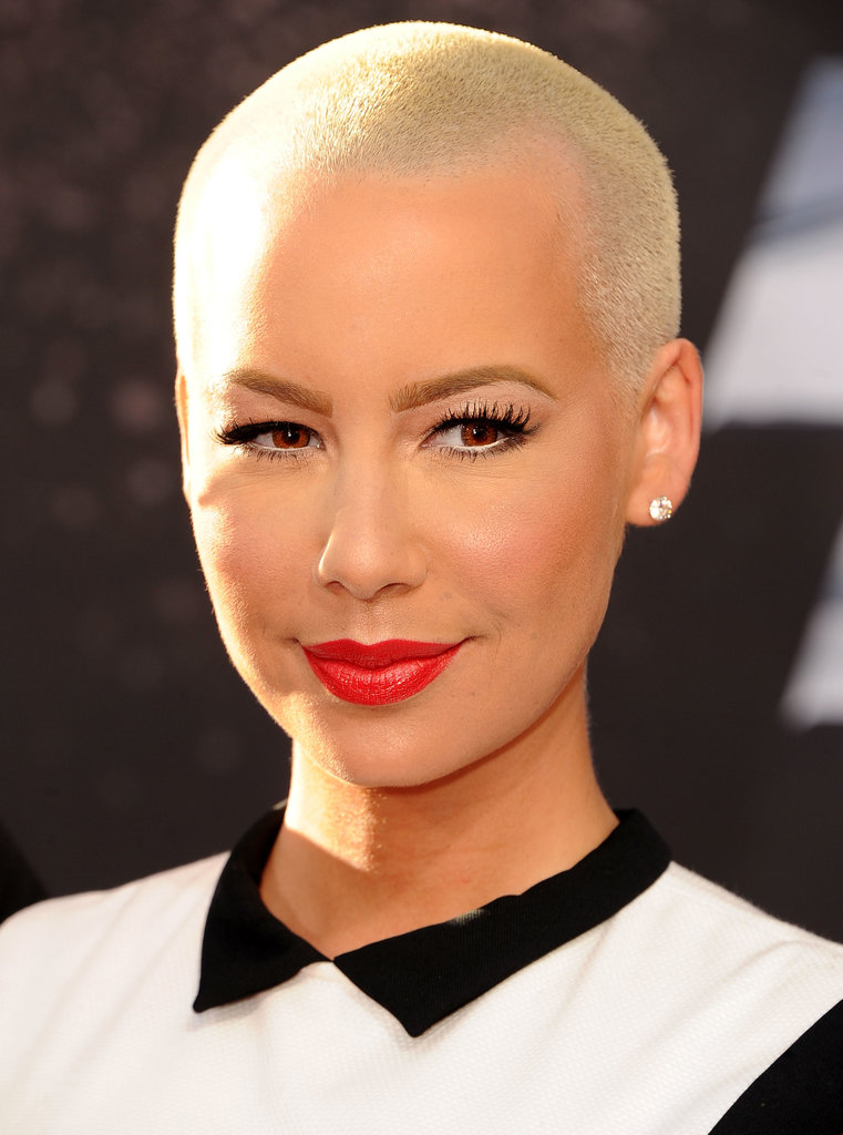 While it might not be called a pixie, Amber Rose's tight crop is ace for anyone with strong facial features and a penchant for red lipstick.