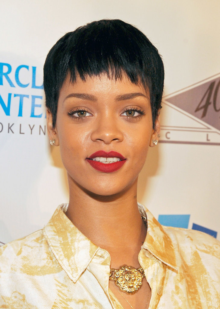 Before her iconic undercut, Rihanna sported a cool, tight pixie.