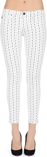 The Legging Ankle - Zig Zag White
