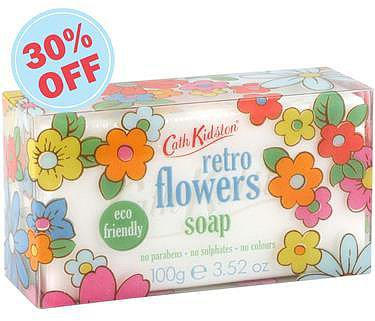 Retro Flowers Soap