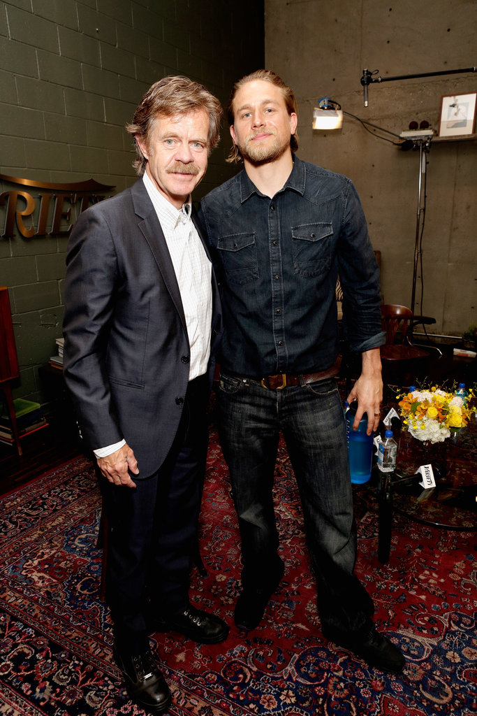 Photo of William H. Macy & his friend  Charlie Hunnam