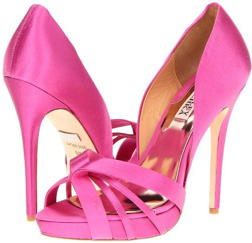 Badgley Mischka - Cherise (Bright Rose Satin) - Footwear