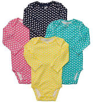 Long-Sleeve 4-pack Bodysuits