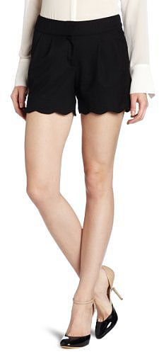 C. Luce Women's Scalloped Hem Short