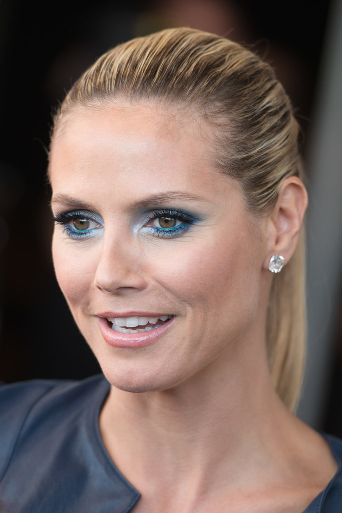 Earlier this year, Heidi tried her hand at bright eye makeup with blue and silver hues on the America's Got Talent red carpet.