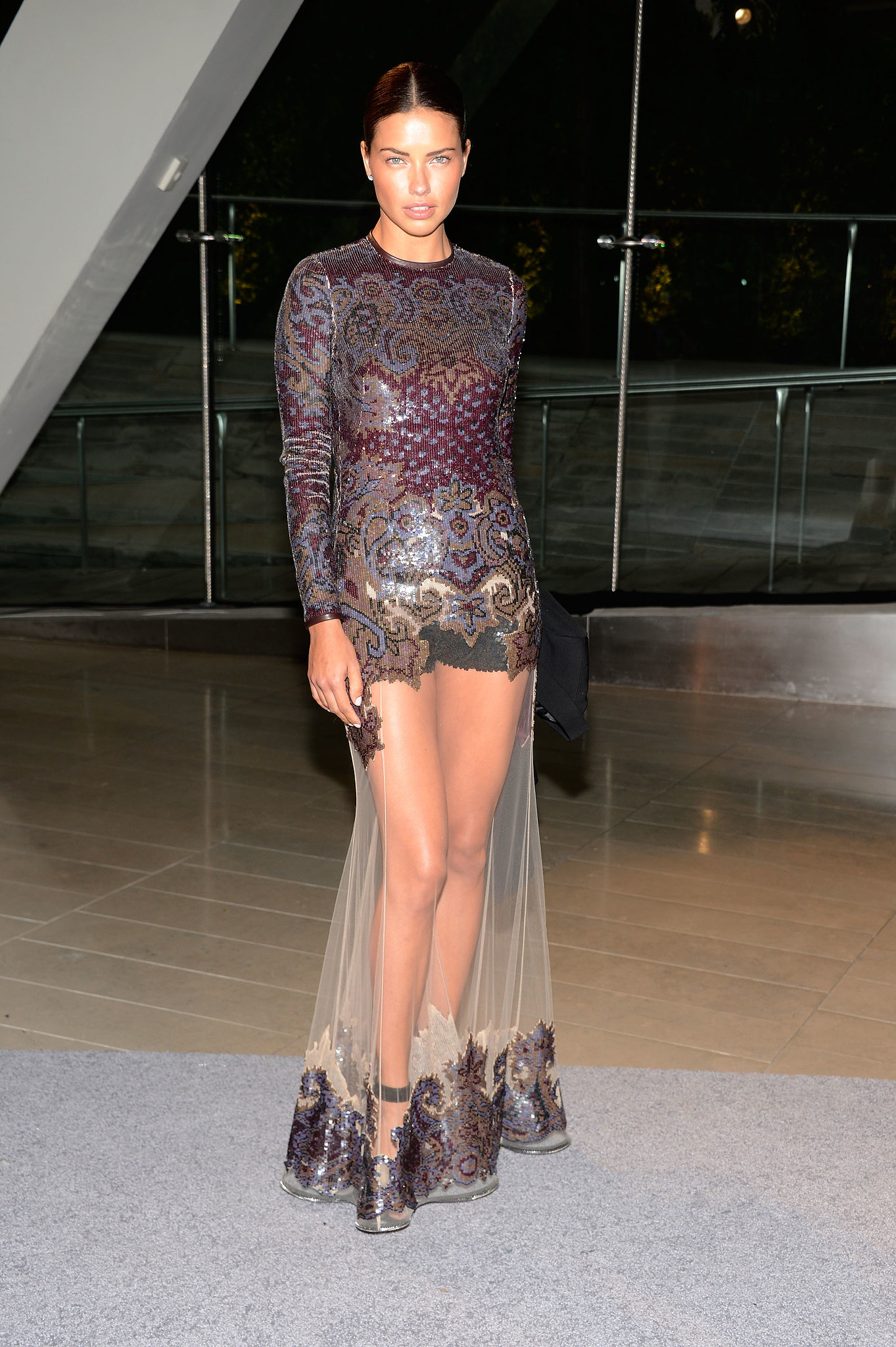 Adriana Lima, in Givenchy by Riccardo Tisci, at the 2013 CFDA A
