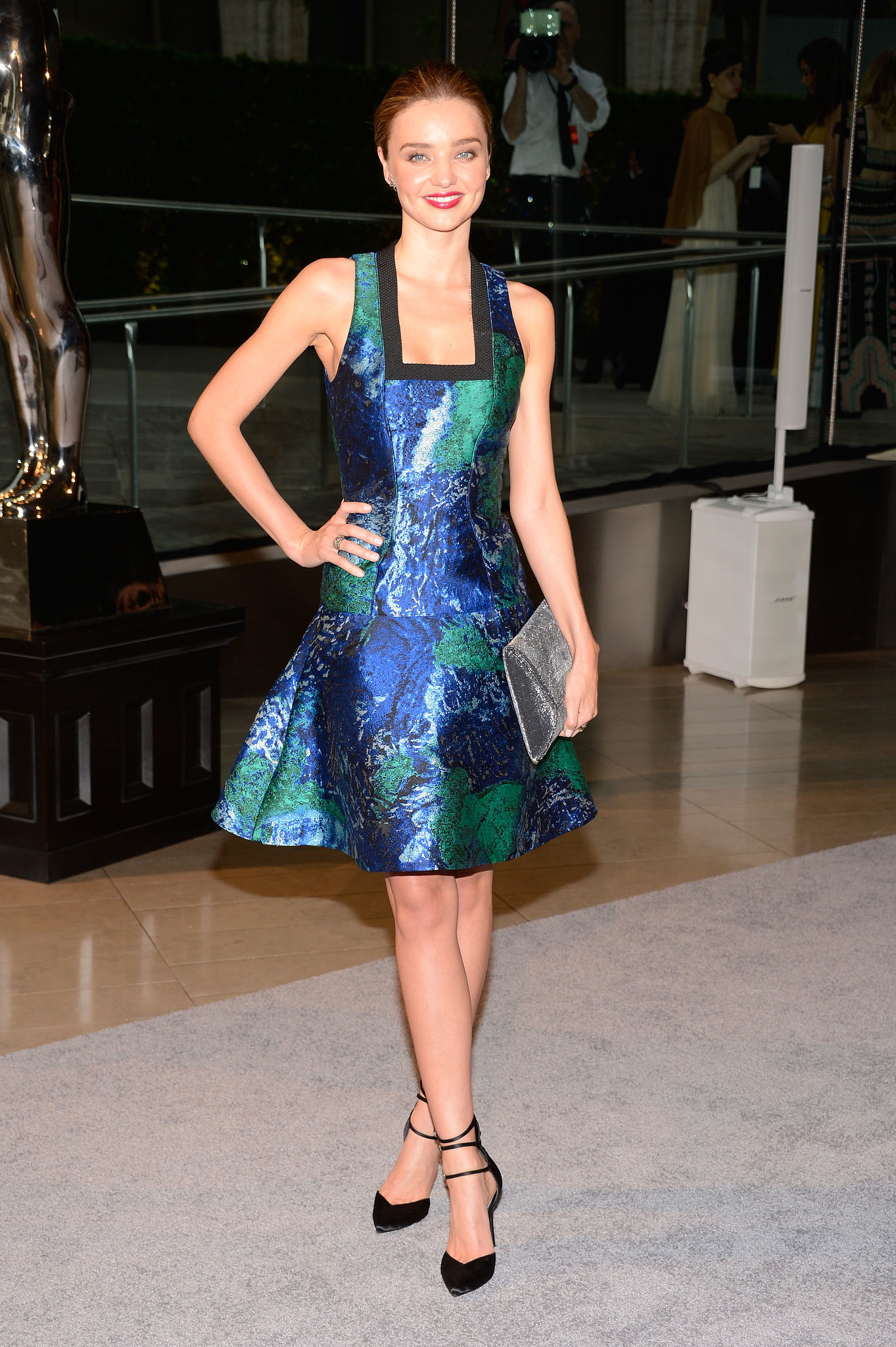 Miranda Kerr, in Proenza Schouler and Stuart Weitzman, at the 2013 CFDA Awards.