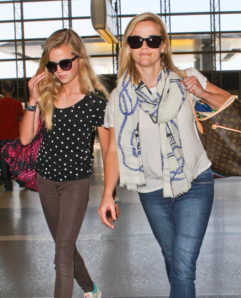 Reese Witherspoon and her look-alike daughter Ava Phillippe toted their bags through LAX on Friday.