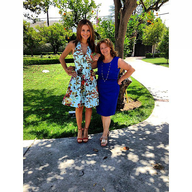 Maria Menounos was accompanied by her mom at Kim Kardashian's baby shower. Source: Instagram user mariamenounos78