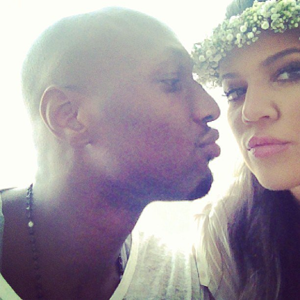 Lamar Odom attended Kim Kardashian's baby shower with his wife, Khloé Kardashian. Source: Instagram user KhloeKardashian