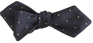 Silk bow tie in sea glass dots