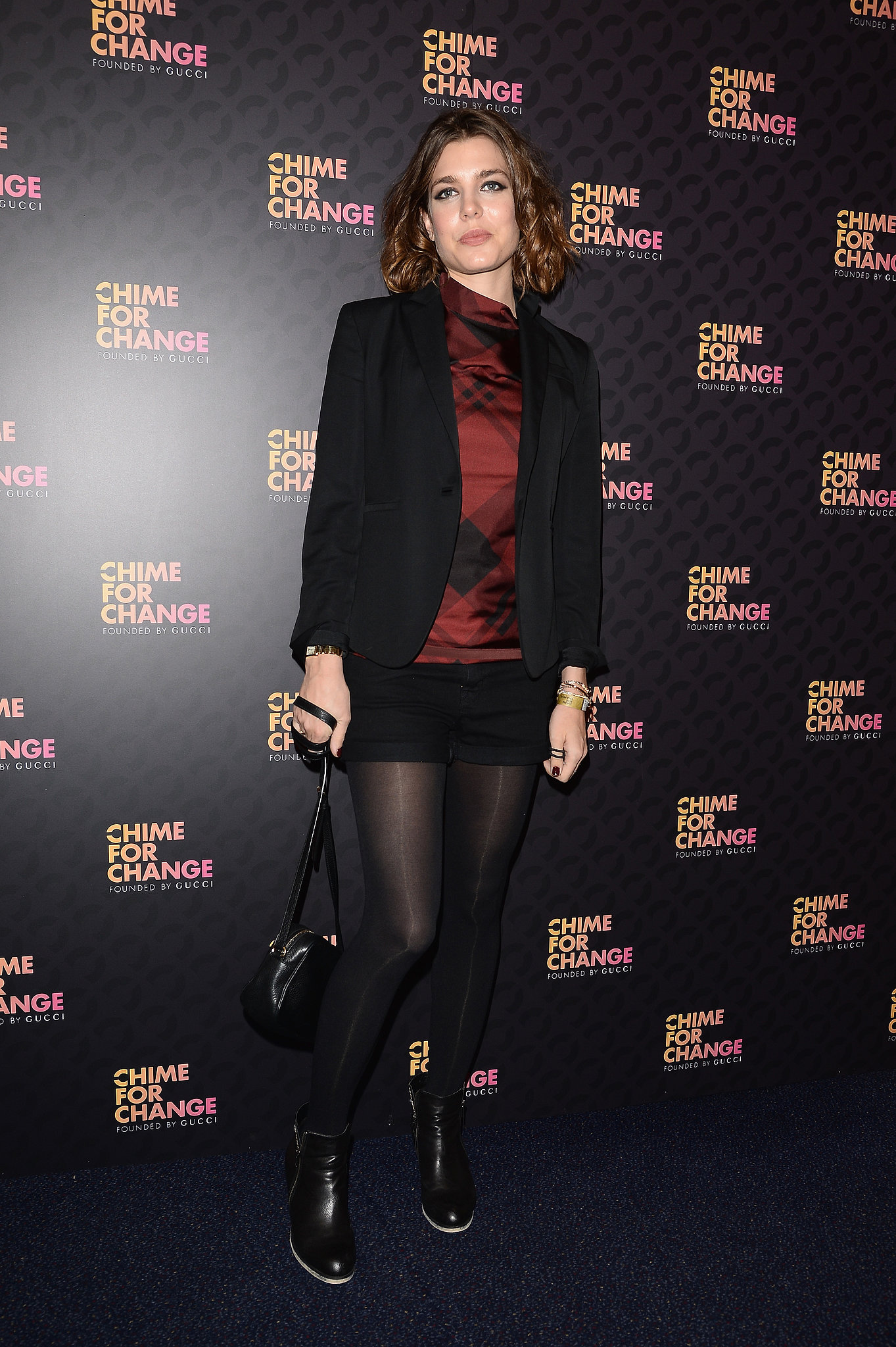 Charlotte Casiraghi, in Gucci Pre-Fall 2013, at the Chime For Change: The Sound of Change Live concert, presented by Gucci