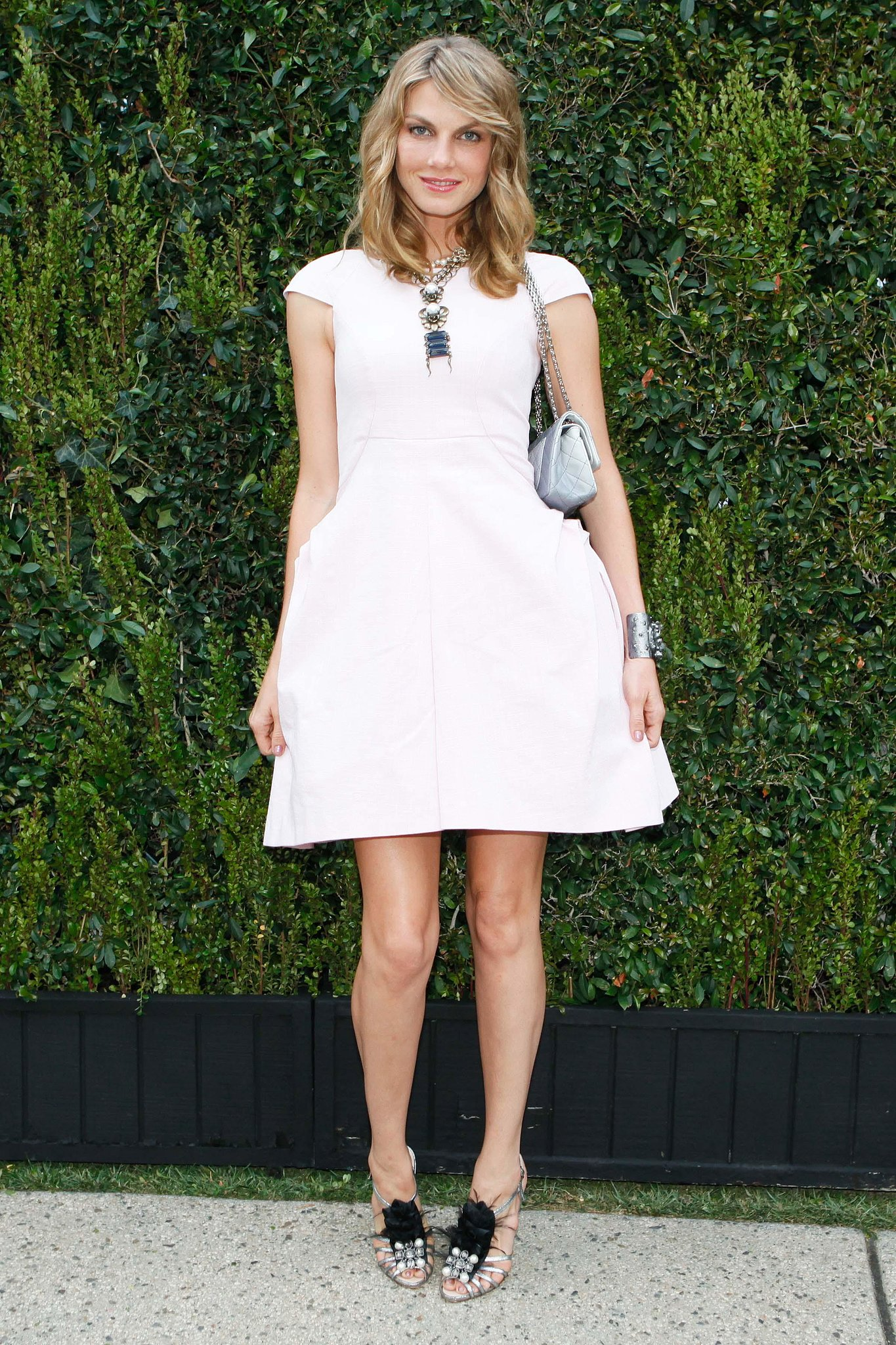 Angela Lindvall, in Chanel, at the Natural Resources Defense Council's A Celebration of Art, Nature, and Technology dinner, hosted by Chanel. Source: Koury Angelo/BFAnyc.com