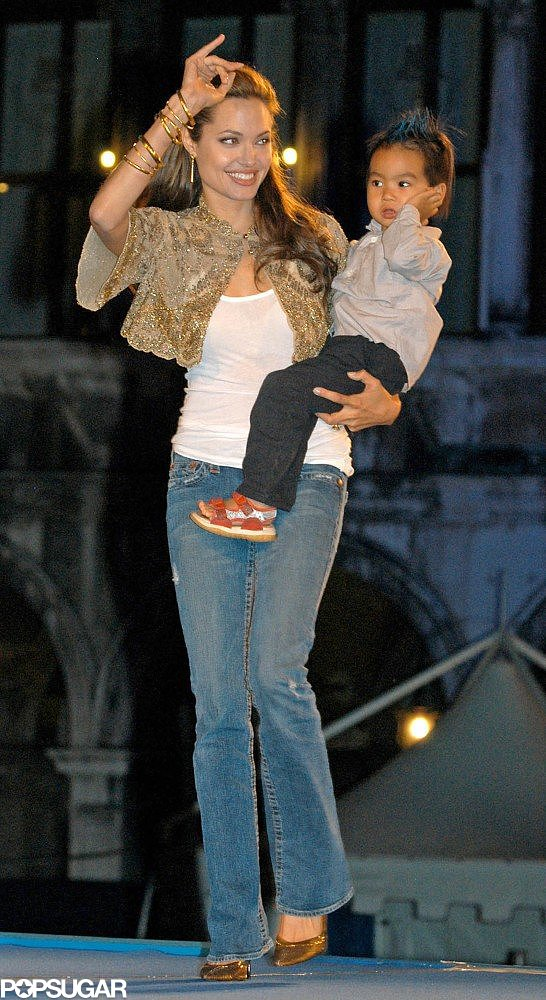 Angelina Jolie brought Maddox along to the premiere of Shark Tale at the Venice Film Festival in September 2004.