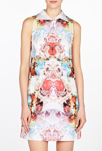 Carven Watercolour Artist Print Cotton Shirt Dress