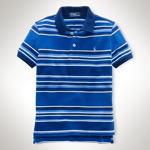 Short-Sleeved Striped Polo