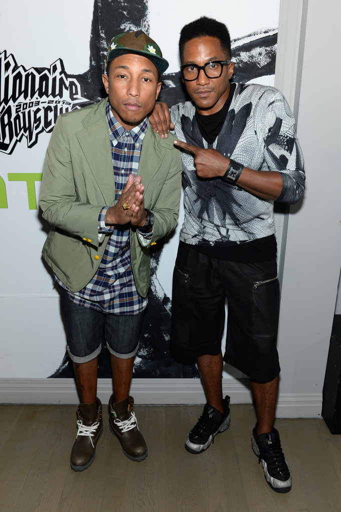 Pharrell Williams and Q-Tip smiled at the 10th anniversary of the Billionaire Boys Club clothing line.