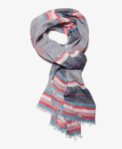 21 MEN Multi-Stripe Frayed Scarf