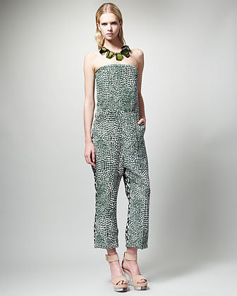 Stella McCartney Printed Strapless Jumpsuit
