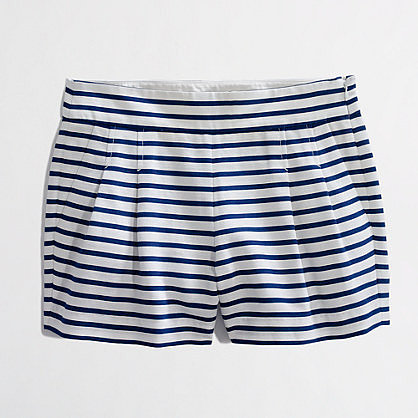 "Factory 3"" pleated stripe short"