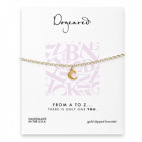open c bracelet, gold dipped