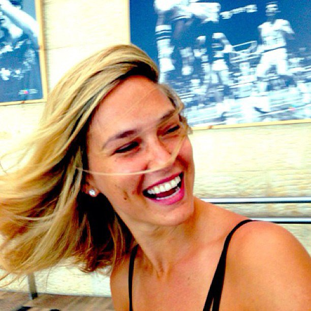 Bar Refaeli had some fun whipping her hair back and forth. Source: Instagram user barrefaeli