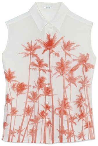 Equipment Diem Clean Palm Printed Watermelon Blouse