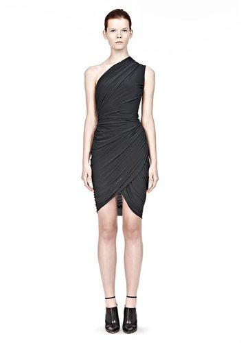 Asymmetric One Shoulder  Draped Dress