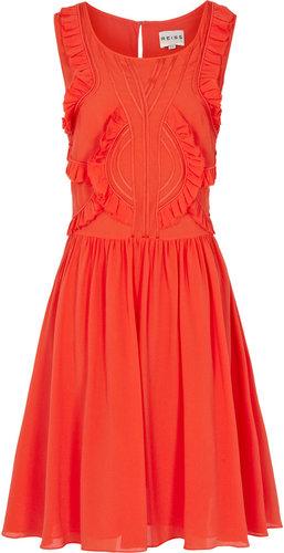 Loulou RUFFLE DETAIL DRESS