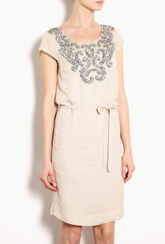 DAY Birger Et Mikkelsen Day Twirls Sequin Embellished Cap Sleeve Dress With Tie