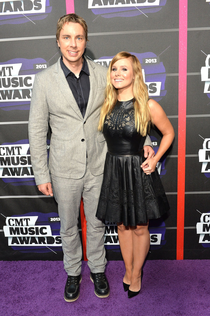 Kristen Bell and Dax Shepard posed together on the red carpet at the CMT Awards.