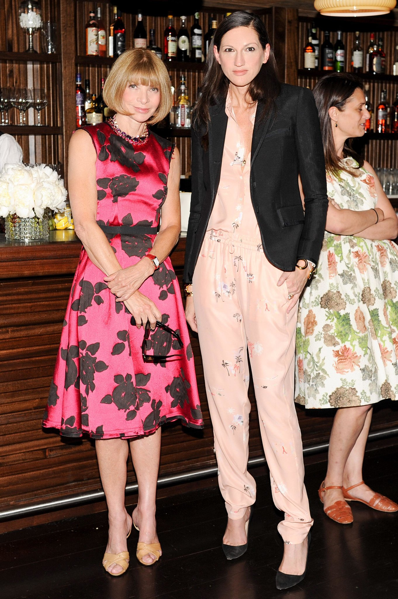 Anna Wintour and Jenna Lyons at the J.Crew and CFDA/Vogue Fashion Fund dinner in NYC. Source: Neil Rasmus/BFAnyc.com