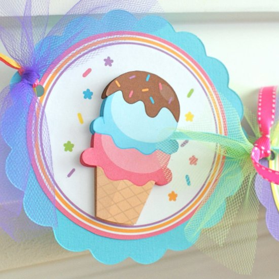 Ice-Cream-Themed Party Supplies