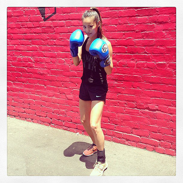 Jaime Chung gave us a glimpse of her latest workout. Source: Instagram user jaimechung1