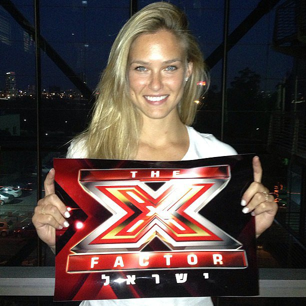 Bar Refaeli promoted The X Factor in her native Israel. Source: Instagram user barrefaeli
