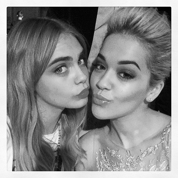 Cara Delevingne and Rita Ora stuck close together at the Glamour UK Women of the Year Awards in London. Source: Instagram user caradelevingne