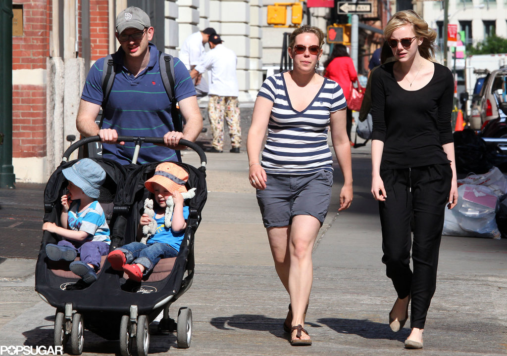 Emma Stone spent an afternoon with Andrew Garfield's family in NYC.